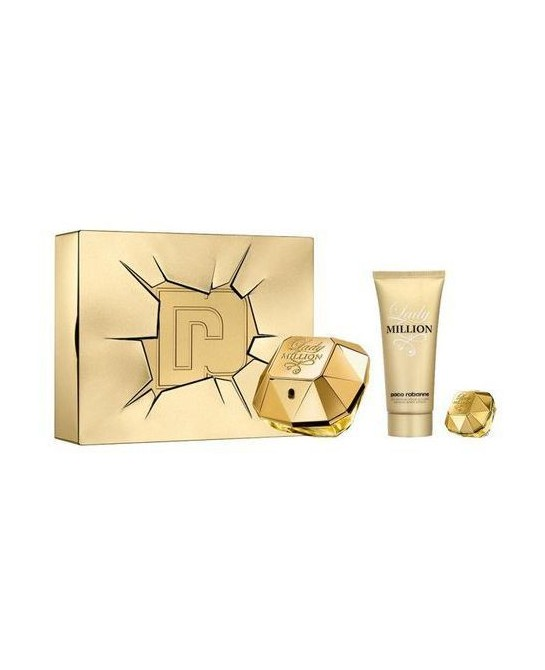 PACO RABANNE LADY MILLION EDP LOTE 3 PZ