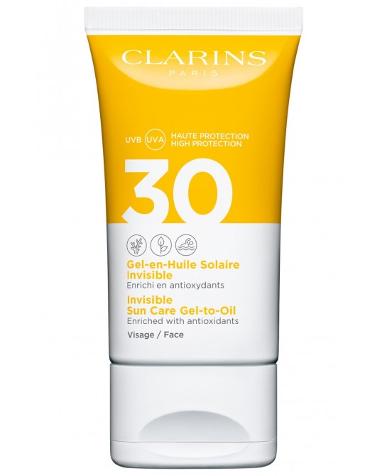 CLARINS GEL ACEITE SOLAR INVISIBLE UVB/UVA SPF30 50ML
